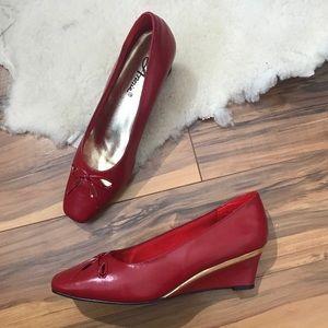 💎 NWOB Vintage 80s Annie Red Shoes 8.5N